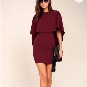NWOT Burgundy backless dress